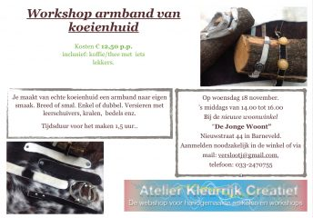 Workshop Armband-koeienhuid